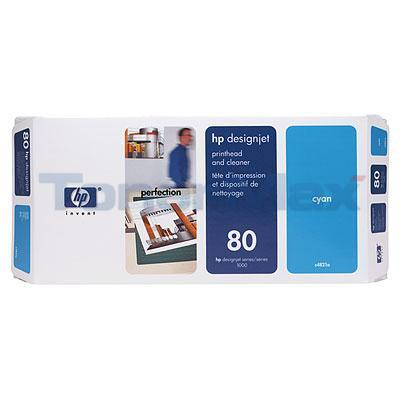 HP DESIGNJET 1050C NO 80 PRINTHEAD AND CLEANER CYAN